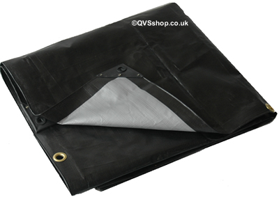 Heavy Duty Black Tarpaulins