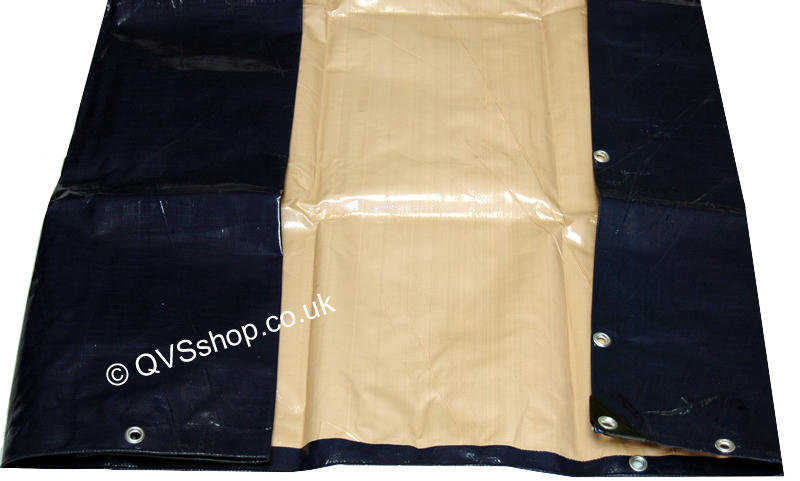 Heavy Duty Blue/Beige Roof Covers And Ground Sheets