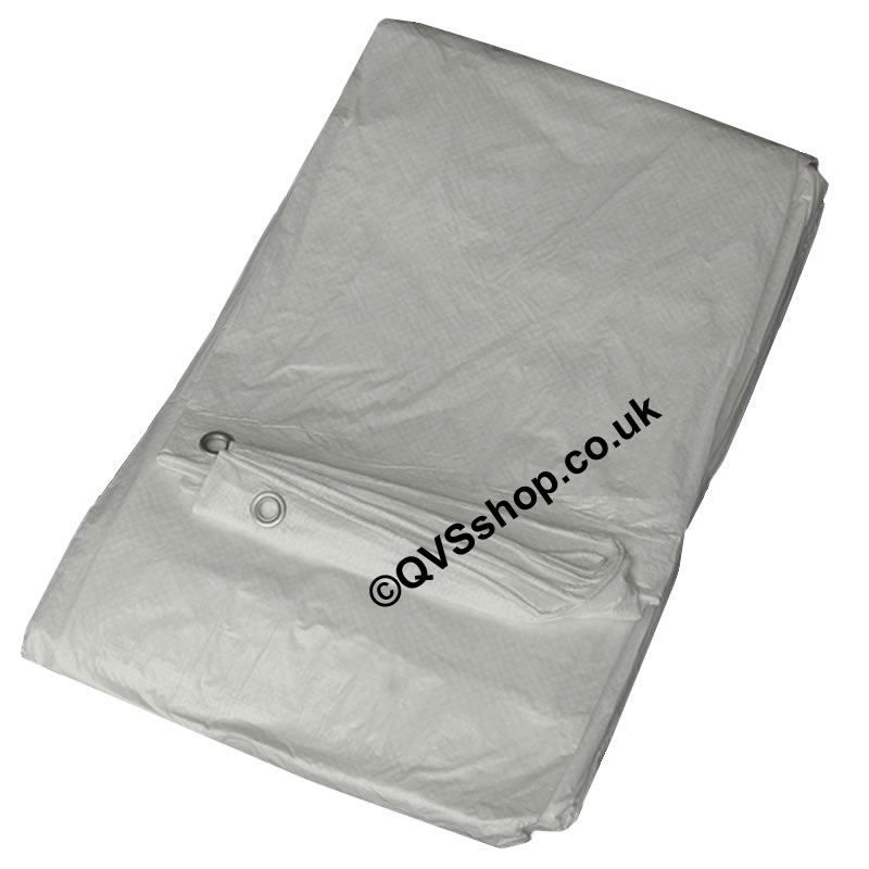 White Value Tarps | Temporary Waterproof Roof Covers